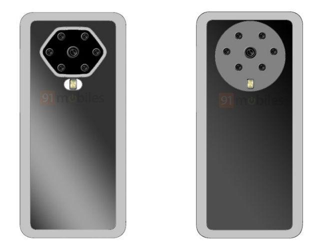 OPPO 7つのカメラ