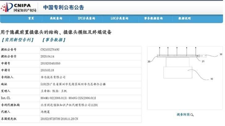 HUAWEIが申請した特許の詳細