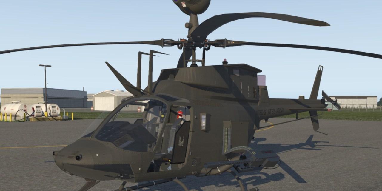 Bezplatný OH-58D Kiowa Warrior pro X-Plane