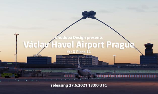 Letiště Praha pro x-plane od Chudoba Design již brzy