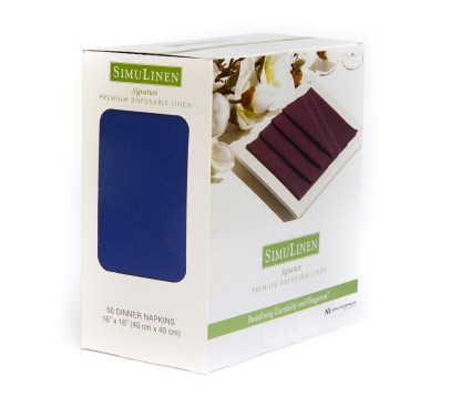 SimuLinen Signature Colored Blue Dinner Napkins