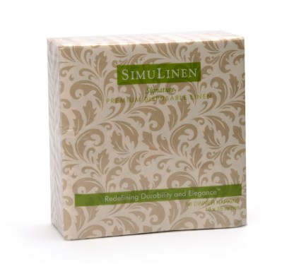 SimuLinen Gallery Champagne Floral Dinner Napkin