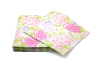 SimuLinen Dinner Napkins Floral Peonies