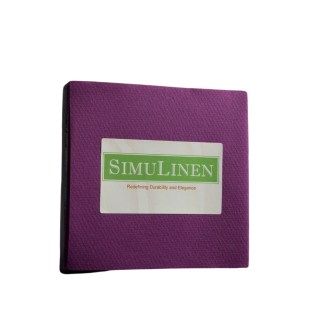 SimuLinen Cocktail Beverage Party Napkins - Aubergine