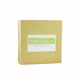 SimuLinen GOLD Cocktail Beverage Napkins