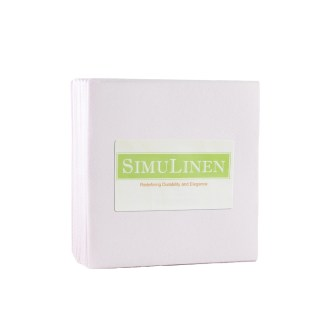 SimuLinen Light Pink Cocktail Beverage Napkins