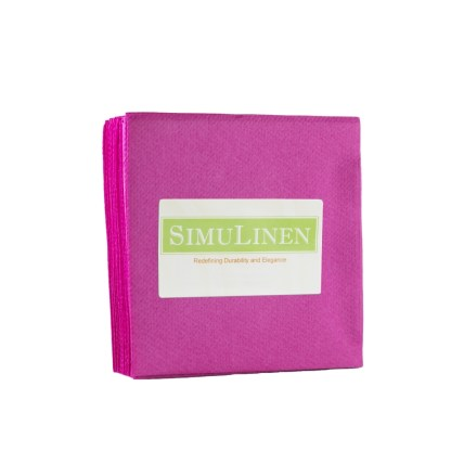SimuLinen MAGENTA Cocktail Beverage Napkins