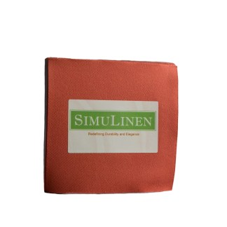 SimuLinen Cocktail Beverage Party Napkins - Terracotta