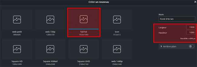 créer fond d'écran gratuit avec pixlr
