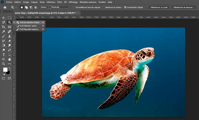 outil sélection d'objet photoshop