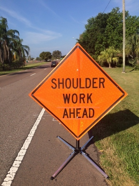 Image result for shoulder work ahead