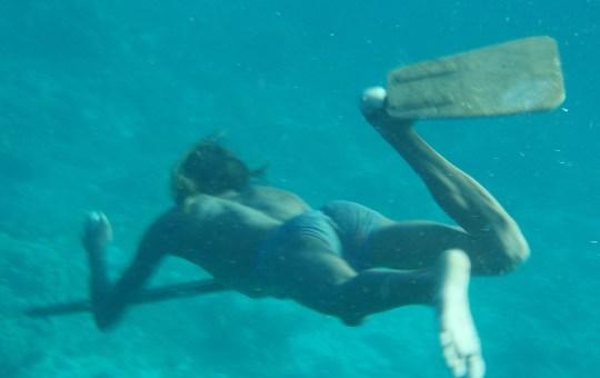 Sama diver in the Davao area.