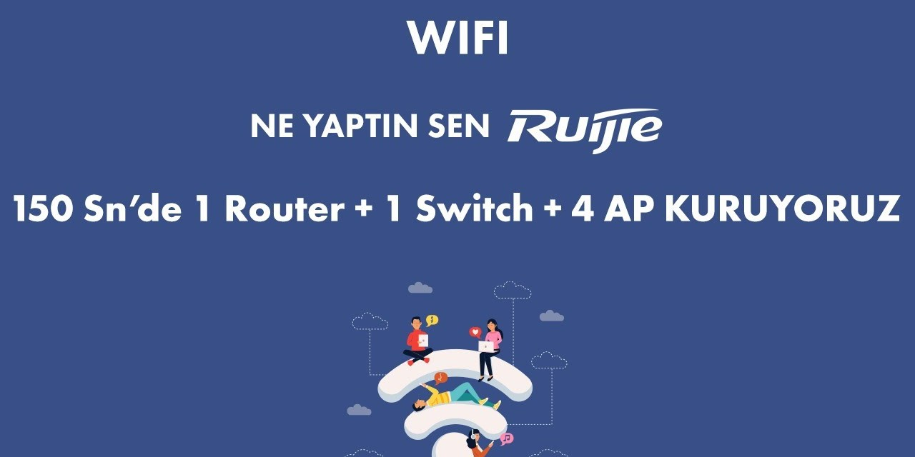 Ne Yaptın Sen Ruijie ? 1 Router + 1 Switch+ 4 AP'yi 150sn de kuruyoruz.