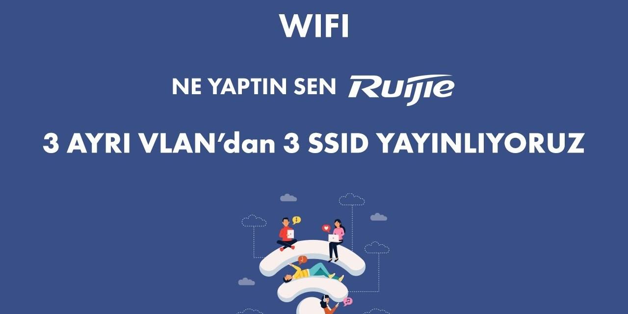 Ne Yaptın sen Ruijie? 3 Ayrı Vlan'dan  3 Farklı SSID Yayınlıyoruz