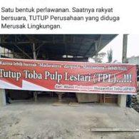 Ramai-Ramai Hentikan Perusahaan Perusak Lingkungan, Paguyuban Alumni GMNI Sumut Minta PT TPL Segera Ditutup.