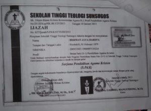 Badan Akreditasi Nasional Telah Jelaskan Status STT Sunsugos, Polisi dan KPU Tidak Mengusut Laporan Atas Herman Jaya Harefa.