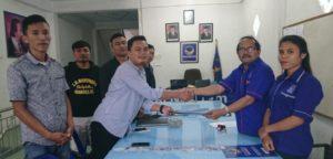 Bertarung di Pilbub Samosir, Aktivis Muda Swangro Lumbanbatu Daftar Lewat Partai Nasdem.
