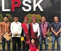 Masyarakat Adat Sihaporas Melapor Ke LPSK Jakarta.