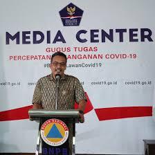 Tenaga Ahli Bidang Media BNPB, Egy Massadiah: Enggak Benar Ada Bantuan 1 Juta Masker dari Shopee, BNPB Tidak Pernah Terima.