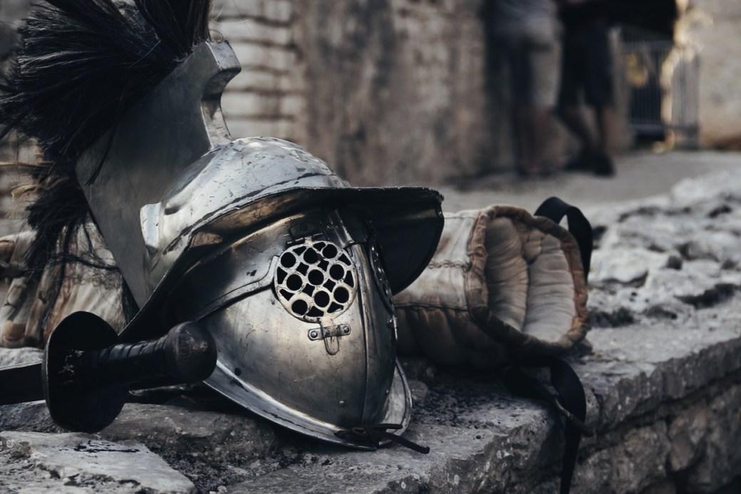 Helm von Goliath, dem Champion der Philister