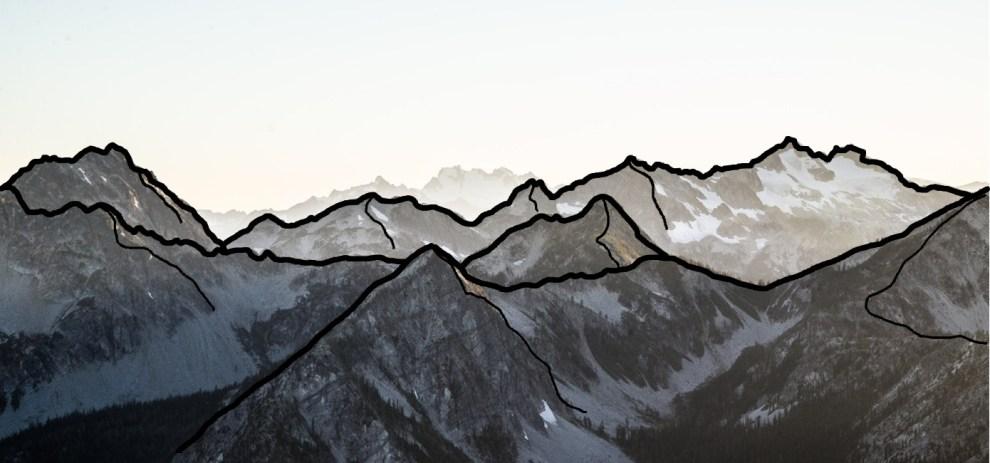 Der einfache Weg Landkarten zu zeichnen – Berge und Gebirge