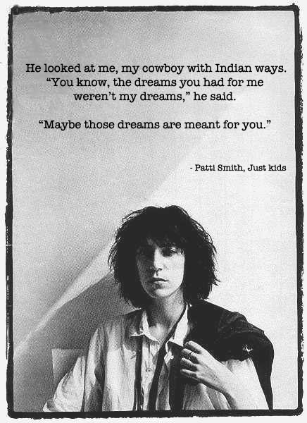 Από το βιβλίο αναμνήσεων της Patti Smith, 'Just Kids' [2010, Ecco] | photo credit: Robert Mapplethorpe