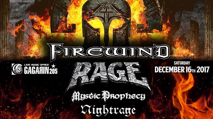 Firewind / Rage / Mystic Prophecy / Nightrage live in Athens