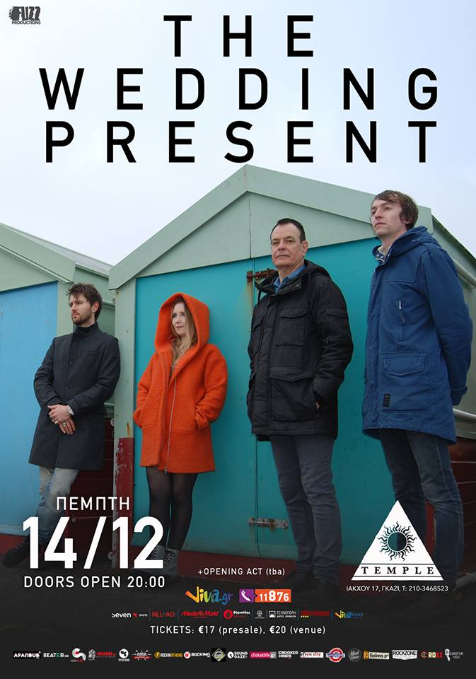 THE WEDDING PRESENT @ TEMPLE ATHENS – ΠΕΜΠΤΗ 14 12 2017