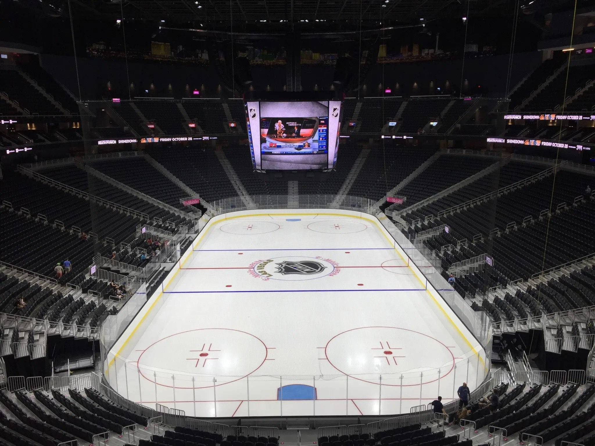 best worst seat from each psection at tmobile arena