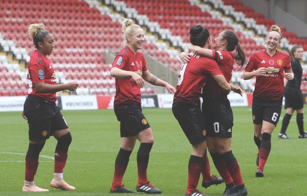 Man United Women v Tottenham Hotspur Ladies. Photo @ManUtdWomen