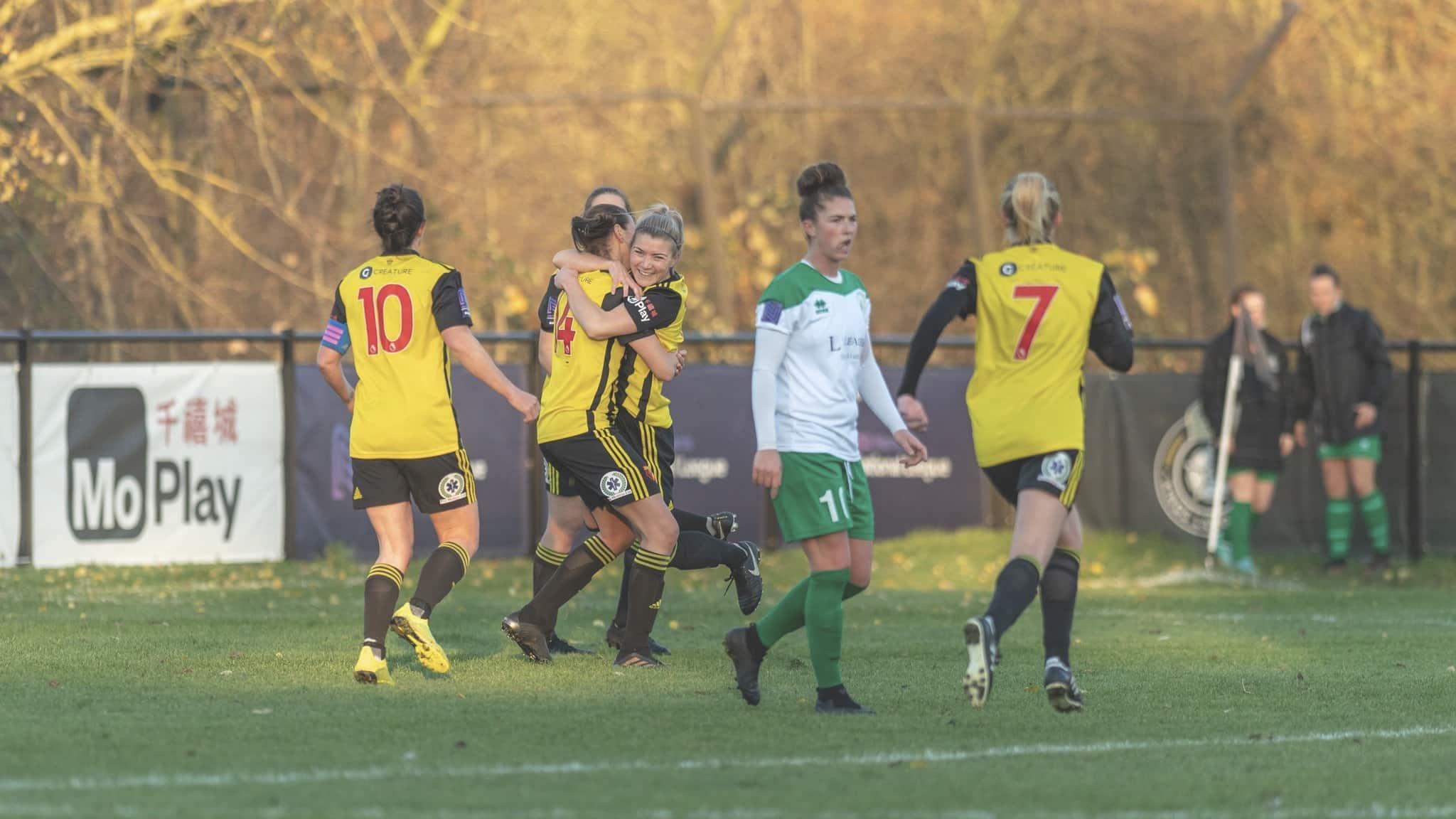 Danielle Scanlon celebrates scoring the only goal of the game.