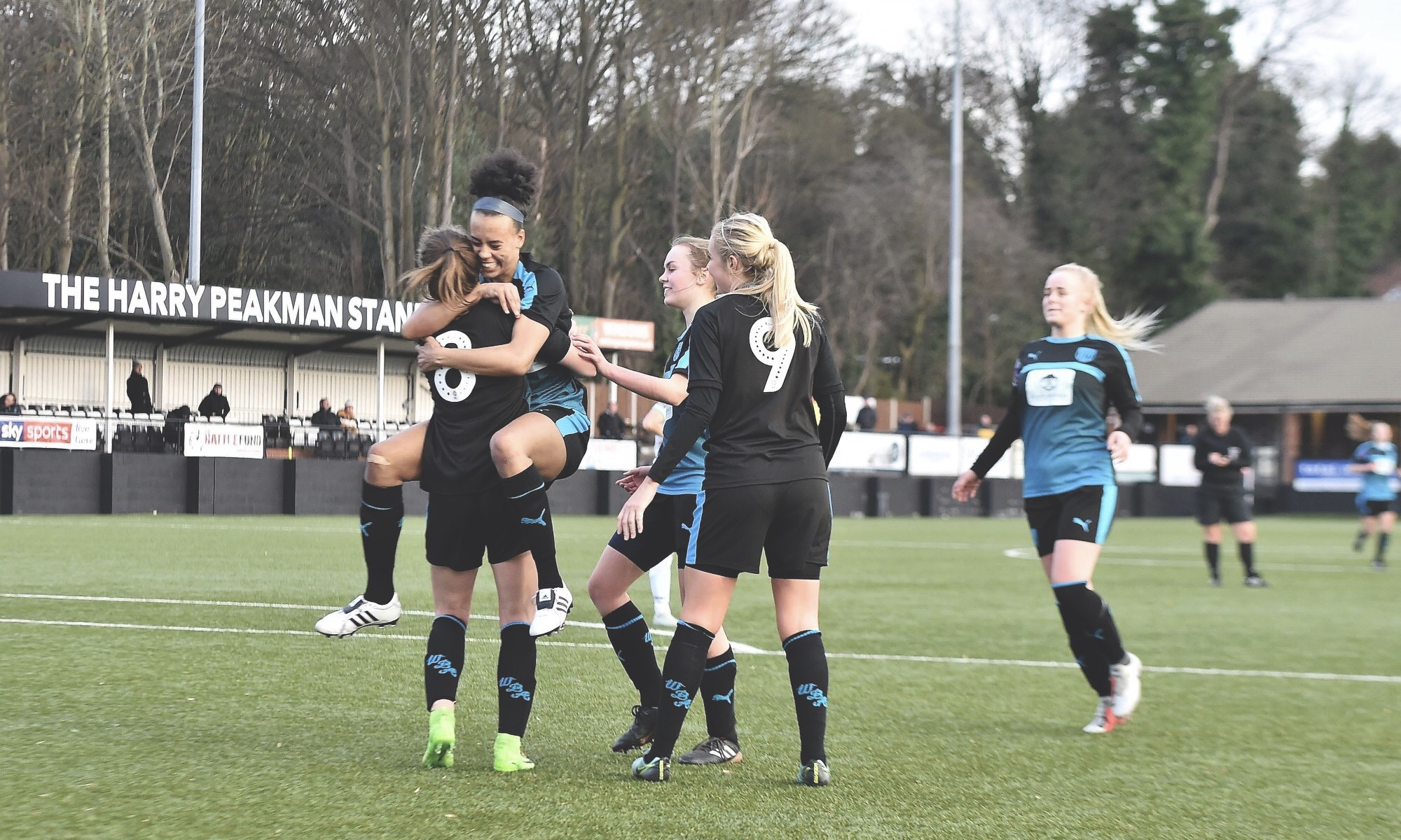 West Bromwich Albion Women celebrating a goal
