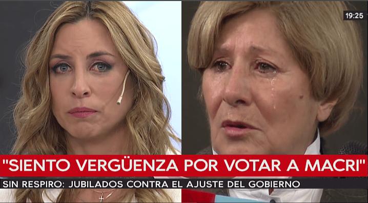 JUBILADA QUE VOTÓ A @mauriciomacri SE QUIEBRA Y CONMUEVE A @Abilassalle