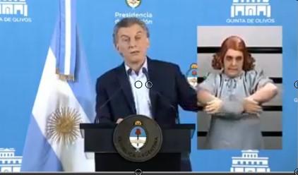 [VIDEO] SE VIRALIZA EL VIDEO EN EL QUE GASALLA TRADUCE A SEÑAS EL DISCURSO DE @mauriciomacri