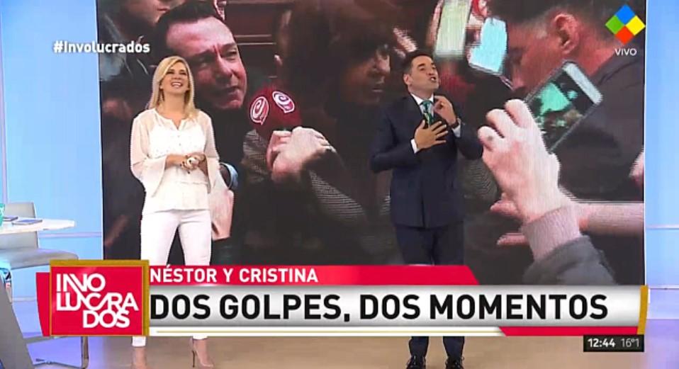 [VIDEO] IUDICA Y PLAGGER SE BURLAN DEL GOLPE QUE RECIBIÓ @CFKArgentina CON UN MICRÓFONO EN LA CABEZA