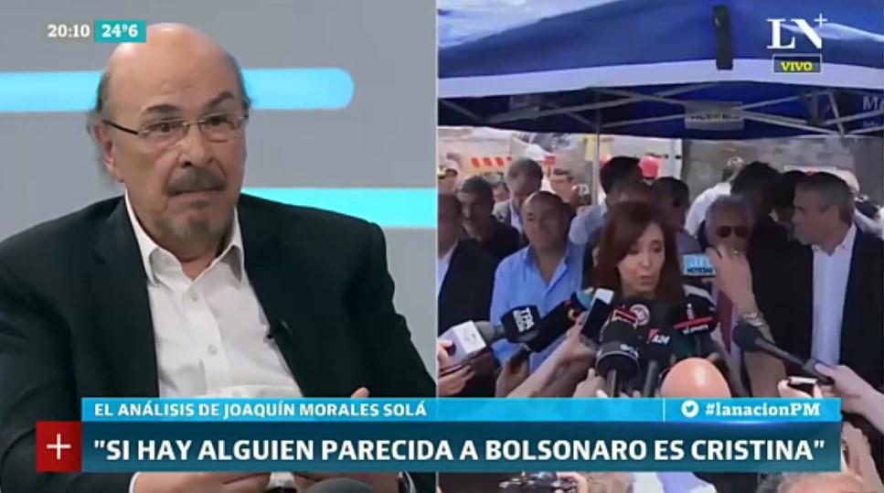 [VIDEO] LA INSÓLITA TEORÍA DE MORALES SOLÁ DONDE COMPARA A CFK CON BOLSONARO