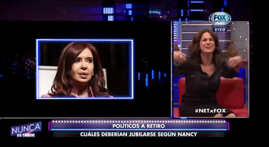 [VIDEO] NANCY DUPLÁA BANCÓ A CRISTINA Y DEFENESTRÓ A MACRI, CARRIO Y BULLRICH