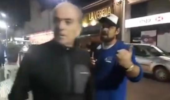 [VIDEO] FUERTE ENCONTRONAZO DE EZE GUAZZORA CON UN FACHO EN TANDIL