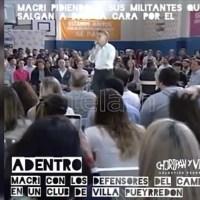 [VIDEO] MIENTRAS MACRI ARENGA A UN GRUPO DE SEGUIDORES, MIRÁ LO QUE PASABA AFUERA