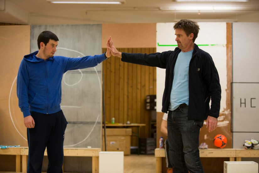 Scott Reid (Christopher) & David Michaels (Ed) in rehearsal for The Curious Incident of the Dog in the Night-Time, pic by Ellie Kurttz.jpg
