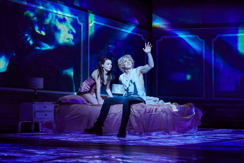 Christina Bennington as Raven & Andrew Polec as Strat in Bat Out of Hell, credit Specular