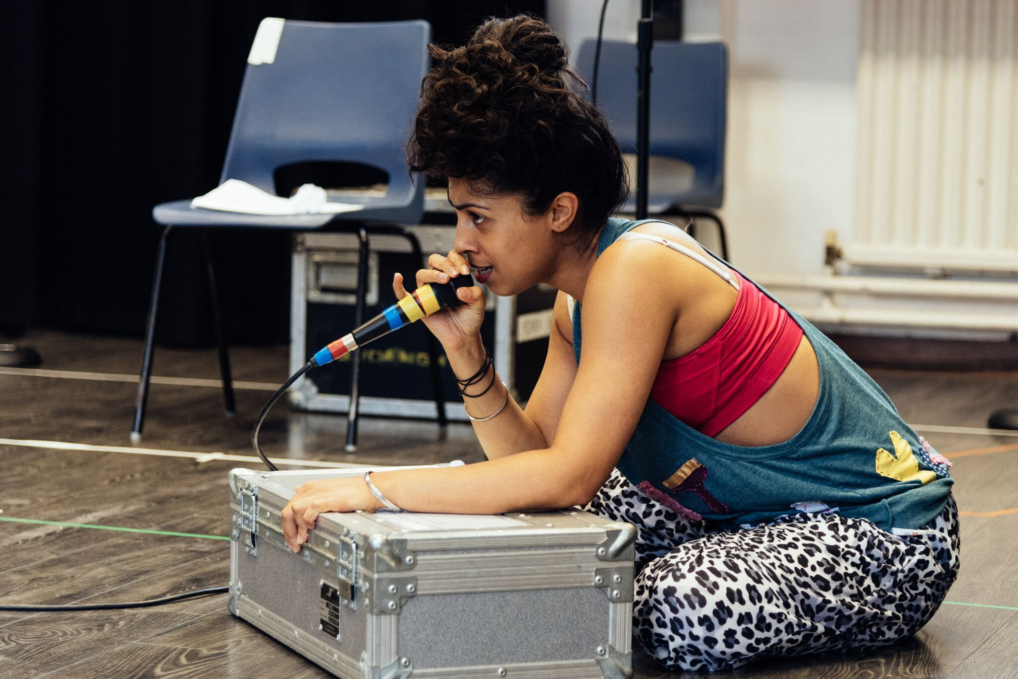 Siobhan Athwal in rehearsals for Wasted the Musical at the Southwark Playhouse. Credit: Oli Sones