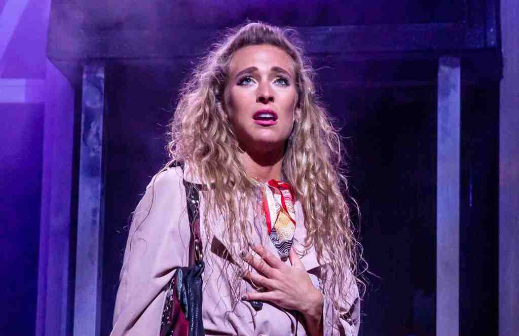 Jodie Steele in the UK tour of Rock of Ages