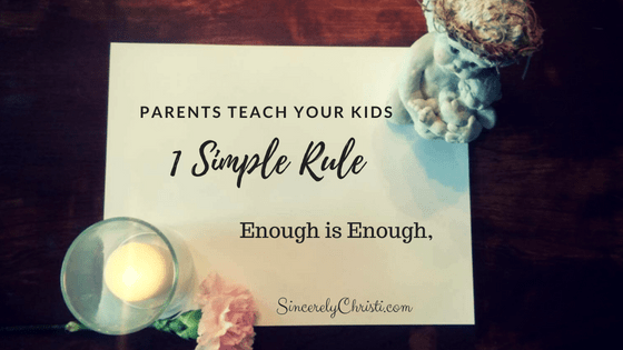 A Simple Rule We Need to Teach Our Kids