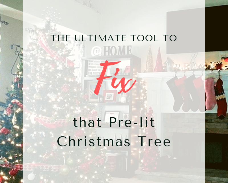 The Ultimate Tool to Fix that Pre-lit Christmas Tree