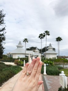 Obligatory Ring Photo at the Wedding Pavilion
