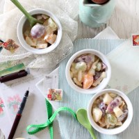Potato,egg & fruit salad (Cantonese Style)