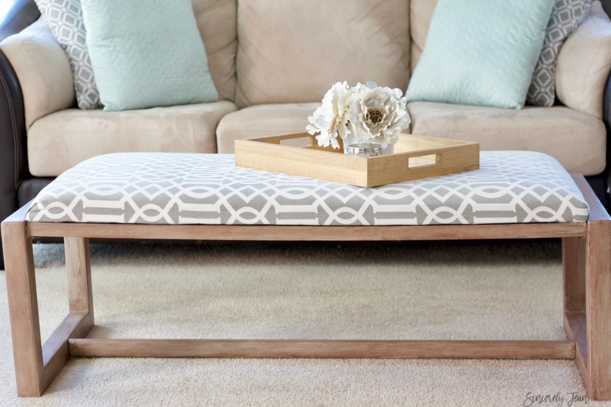 diy fabric covered coffee table