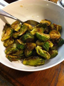 Brusselsprouts with a raspberry balsamic vinegar!