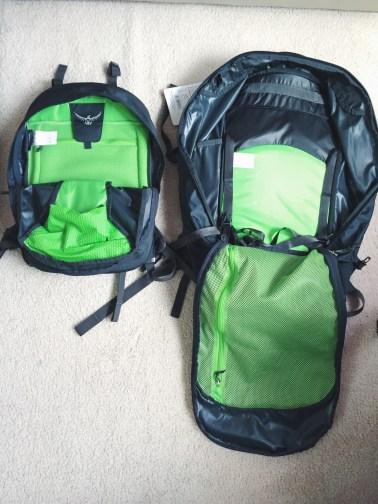 Inside look at the Osprey Farpoint 55L.